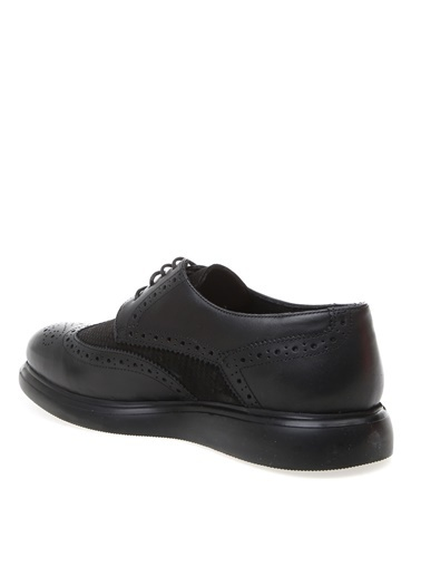Cotton Bar Cotton Bar Siyah Deri Günlük Ayakkabı Siyah